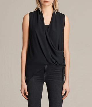 Damen Ali Laced Top (Black) -