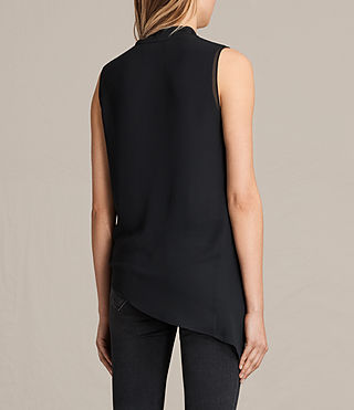 Women's Ali Laced Top (Black) - product_image_alt_text_3