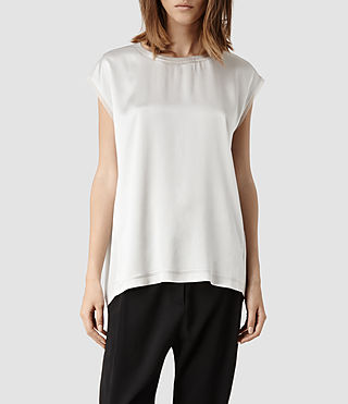 Womens Korem Top (Oyster)