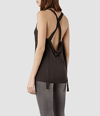 Womens Lexie Tank (Dark Charcoal)