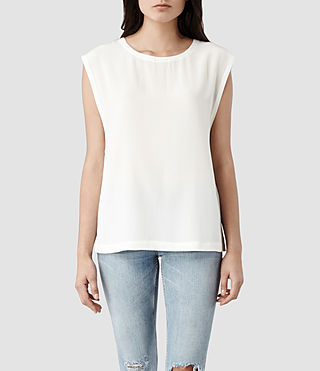 Womens Basia Top (Chalk)