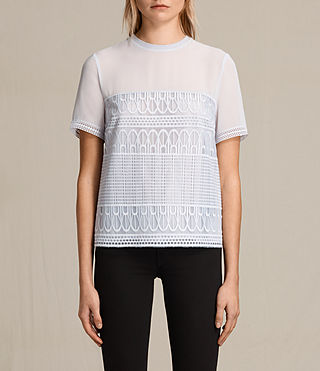 Womens Charlton Lace Top (OFFSHORE GREY) - product_image_alt_text_2