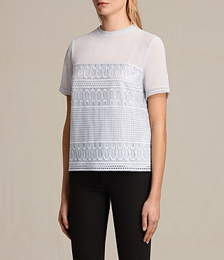 Women's Charlton Lace Top (OFFSHORE GREY) - product_image_alt_text_3