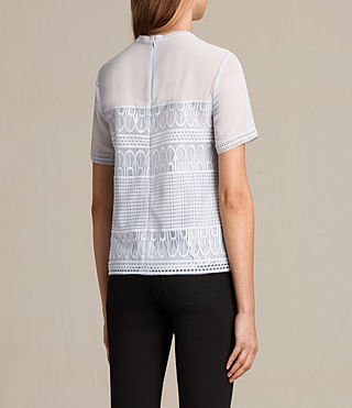 Womens Charlton Lace Top (OFFSHORE GREY) - product_image_alt_text_4