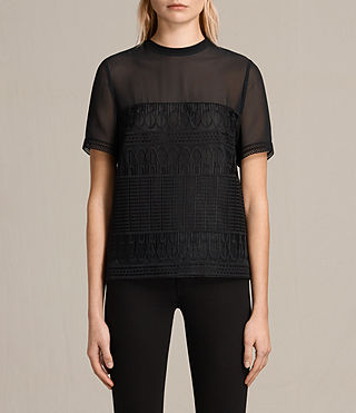 Womens Charlton Lace Top (Black)