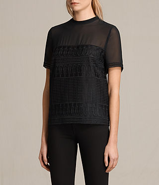 Donne Top Charlton Lace (Black) - product_image_alt_text_3