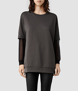 Womens Lomax Sweat (Washed Black)