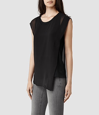 Womens Vida Top (Indigo/Black)