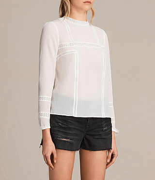 Womens Acacia Top (Chalk White) - product_image_alt_text_2