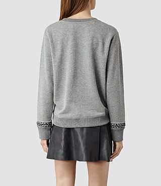 Womens Soph Cropped Sweat (Grey Marl) - product_image_alt_text_3