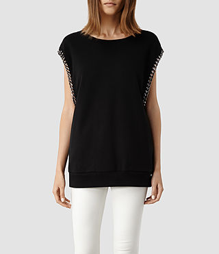 Womens Itita Top (Jet Black)
