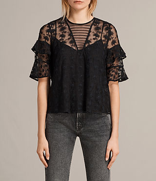 Women's Henrietta Top (Black) -