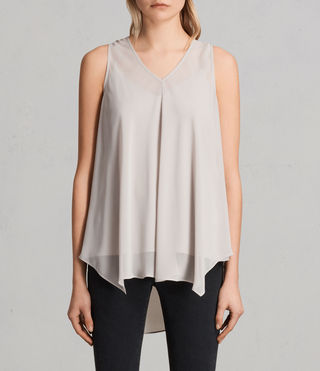 Womens Blaze Top (Stone Grey)