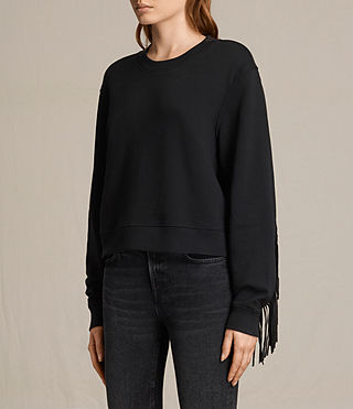 Womens Fringi Sweatshirt (Jet Black)