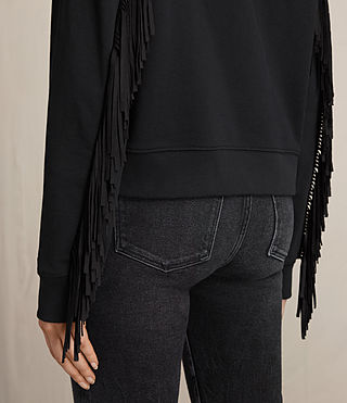 Femmes Sweat à capuche Fringi (Jet Black) - product_image_alt_text_2