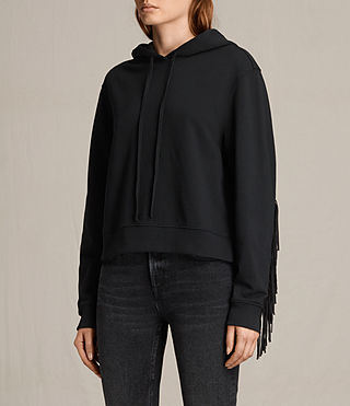 Femmes Sweat à capuche Fringi (Jet Black) - product_image_alt_text_3