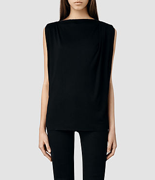 Womens Noir Vi Top (Black/Cinder)