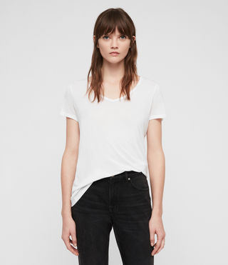 Mujer Malin Silk T-Shirt (Optic) - product_image_alt_text_1