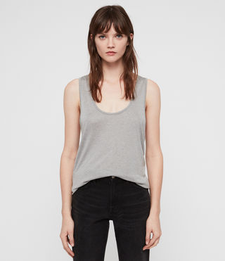 Womens Malin Silk Tank (Grey Marl)