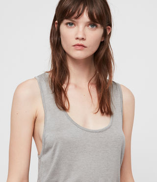 Womens Malin Silk Tank (Grey Marl) - Image 2