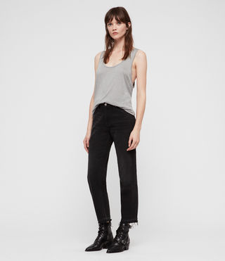 Womens Malin Silk Tank (Grey Marl) - Image 3