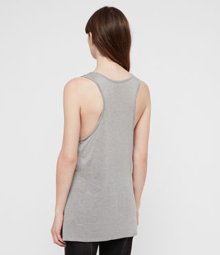 Womens Malin Silk Tank (Grey Marl) - Image 4