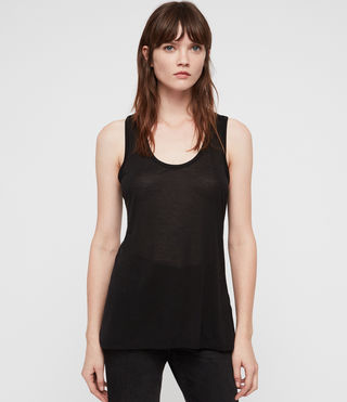 Womens Malin Silk Tank (Black)