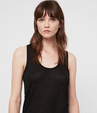 Women's Malin Silk Vest (Black) - product_image_alt_text_2
