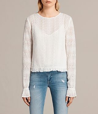 Mujer Dakota Top (Chalk White) -