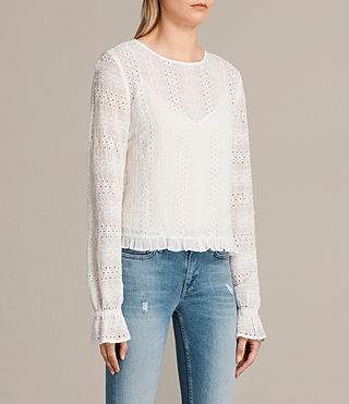 Mujer Dakota Top (Chalk White) - product_image_alt_text_3