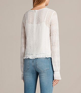 Mujer Dakota Top (Chalk White) - product_image_alt_text_4