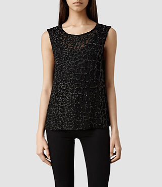 Womens Ravel Top (Black)