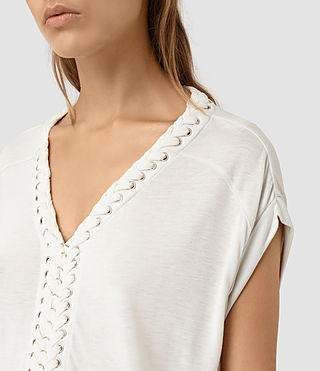 Womens Aria Crop Tee (OYSTER WHITE)
