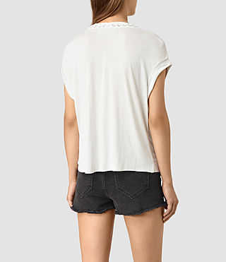 Womens Aria Crop Tee (OYSTER WHITE) - product_image_alt_text_5