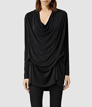 Womens Amei Long Sleeved Top (Black)