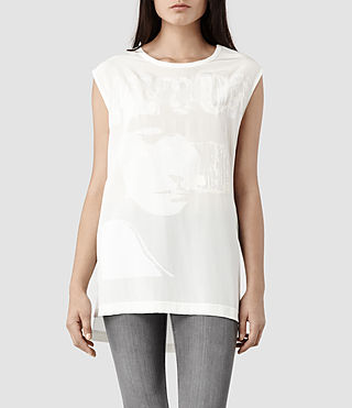 Womens Nico Logic Top (Chalk)