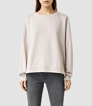 Womens Lo Crew Sweatshirt (Windchime Grey)