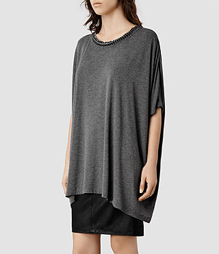 Womens Itita T-Shirt (Charcoal) - product_image_alt_text_2
