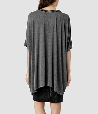 Womens Itita T-Shirt (Charcoal) - product_image_alt_text_3
