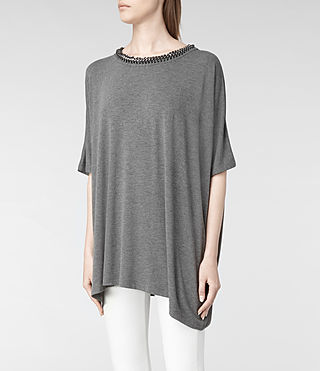 Womens Itita T-Shirt (Charcoal) - product_image_alt_text_4