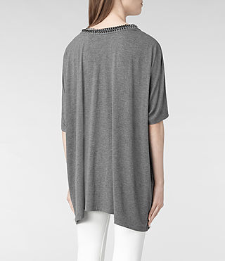 Womens Itita T-Shirt (Charcoal) - product_image_alt_text_5