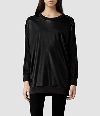 Womens Taura Sweat (Washed Black)