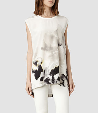 Womens Nico Aura Top (Chalk)
