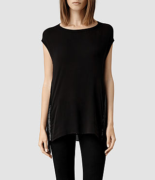 Womens Acalia Top (Jet Black)