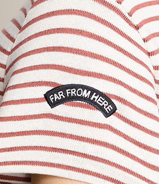 Women's Ione Stripe Tee (CHALK WHITE/CORAL) - product_image_alt_text_2