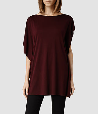 Womens Mitel T-Shirt (Rust Marl)