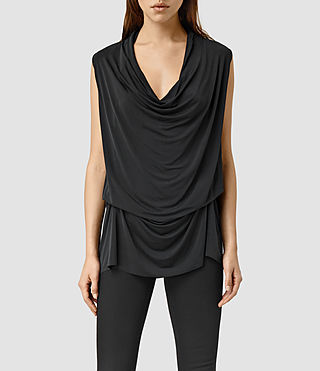 Women's Amei Sleeveless Top (Black)