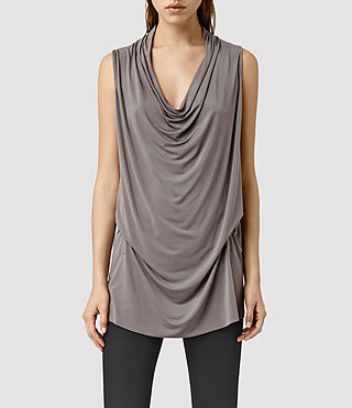 Womens Amei Sl Top (Pewter)