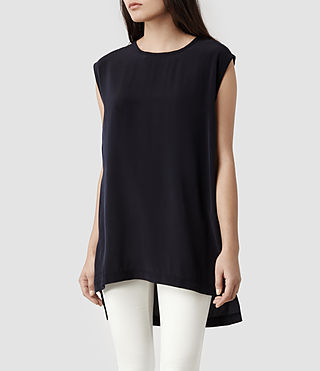 Womens Nico Top (Indigo)