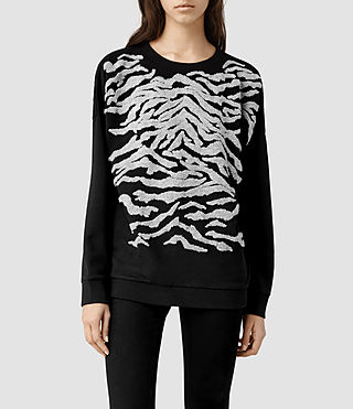 Womens Zira Sweat (Black/Charcoal)
